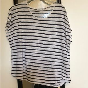 Vince striped linen top size small